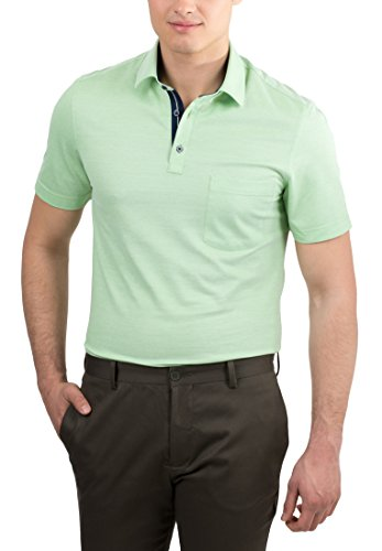 ETERNA Poloshirt MODERN FIT unifarben Hellgrün