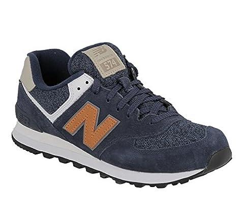 New Balance Men's 574 Trainers, Blue (Navy), 10.5 UK 45