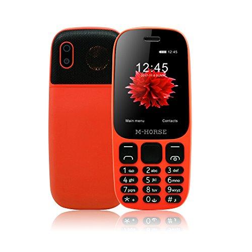 M-HORSE B2000 2000mAh Telefono Cellulare Display da 2.4 pollici Dual SIM Grandi Tasti 2G GSM FM Bluetooth - Arancione