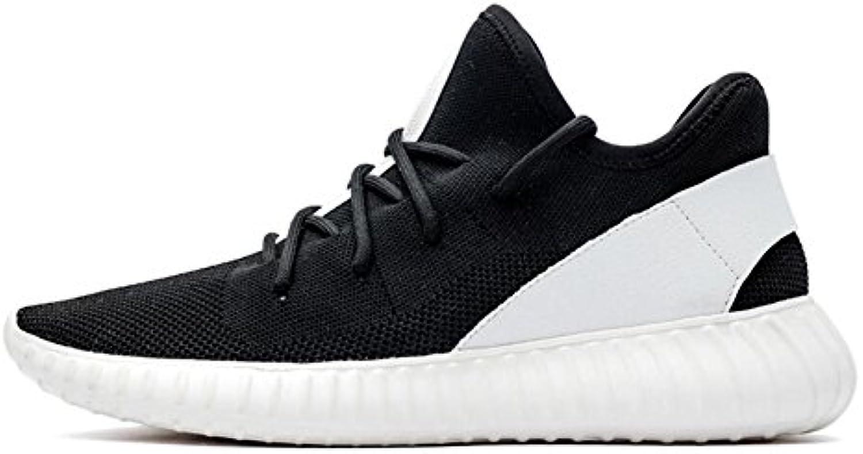 XUE Herren Sneakers Schuhe Stricken Atmungsaktiv Laceup Comfort Laufschuhe Leichte Casual Wanderschuhe Höhe Erhöhen