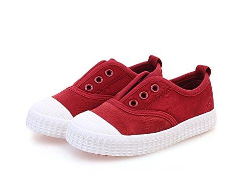 ALUK- Babyschuhe - Kinder Segeltuchschuhe lernen faulen Schuhe beiläufige Schuhe ( Farbe : Rot , größe : 28 ) Rot
