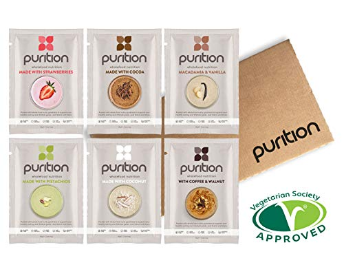 Purition frullato proteico confezione assaggio con gusti assortiti(6 x 40gr) integratore proteico per una sana perdita di peso e recupero post allenamento - bere o mescolare in porridge o yogurt