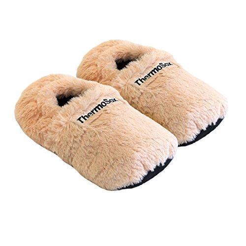 Zapatillas térmicas Pantuflas de granos para el microondas y el horno talla M / EU36-40 albaricoque