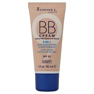 (3 Pack) RIMMEL LONDON BB Cream 9-IN-1 Skin Perfection Super Makeup - Light