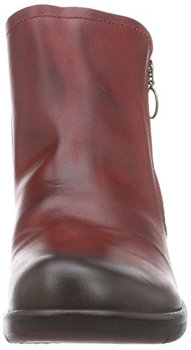 Fly London Meli, Bottes Classiques Femme Rouge (Red 001)