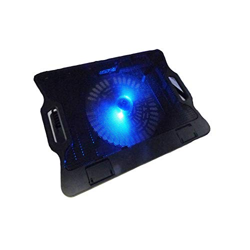 Price comparison product image Ocamo Laptop Radiator Static Cooling Base Large Fan Cooler with 2 USB Interface