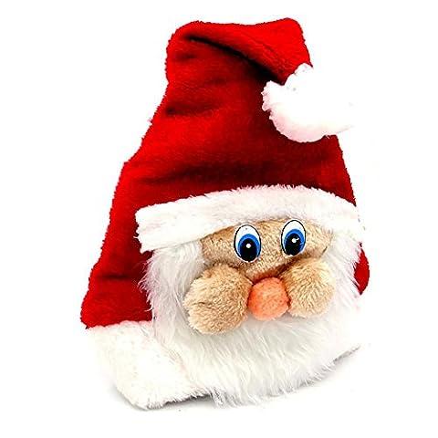 YUYU Costumes de Noël peluche chapeau de Noël avec Facebook
