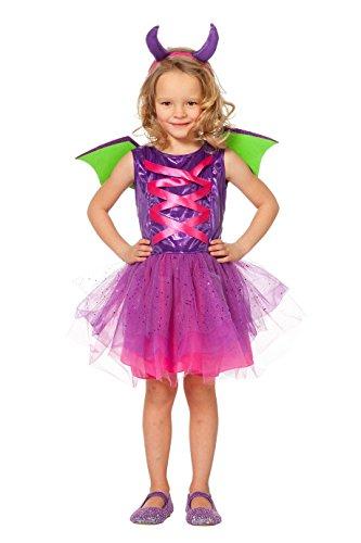 (Wilbers 3509 Drache Kostüm Kinder Mädchen Kinderkostüm Comic Dragon 164)