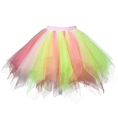 Karneval Erwachsene Damen 80's Tüllrock Tütü Röcke Tüll Petticoat Tutu ()