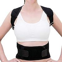 Caerling Posture Corrector for Men and Women, Spine and Back Support, Providing Pain Relief for Neck, Back, Shoulders, Adjustable and Breathable Back Brace Improves Posture Black