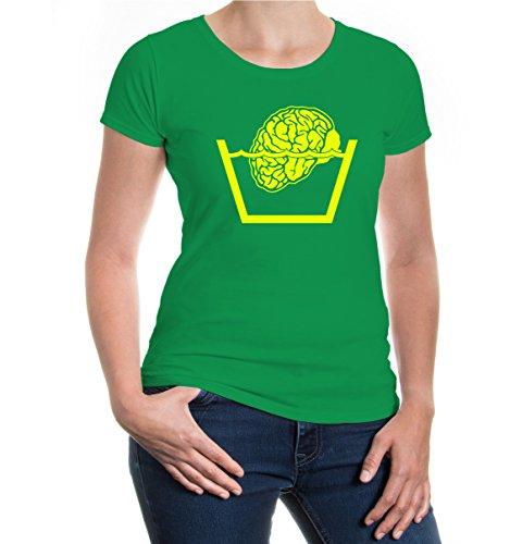 buXsbaum® Girlie T-Shirt Verstandwäsche Kellygreen-Neonyellow