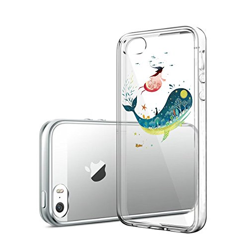 Custodia iPhone 5 Cover, iPhone 5s Clear Soft TPU Protective Case Back Cover with Cute Cartoon Pattern [Slim Fit] [Ultra Thin] for inches iPhone 5s (8) 8