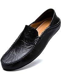 KAMIXIN Mocassini Uomo Pelle Estivi Pantofole Casual Eleganti Slip On Scarpe  da Guida Scarpe da Barca 347cdc35fae