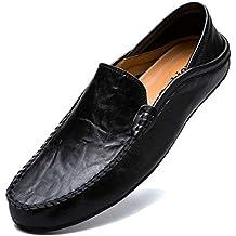 KAMIXIN Mocassini Uomo Pelle Estivi Pantofole Casual Eleganti Slip On Scarpe  da Guida Scarpe da Barca 0d3180b4cff