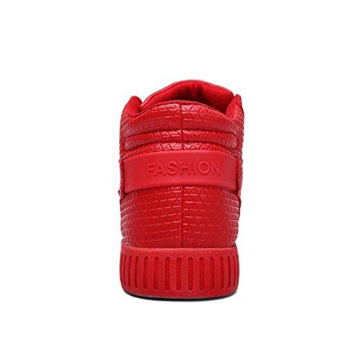 Uomo All'aperto Scarpe sportive formatori Piede di protezione Moda Scarpe da corsa Ballerine Scarpe casual Leggero Confortevole euro DIMENSIONE 39-44 Red