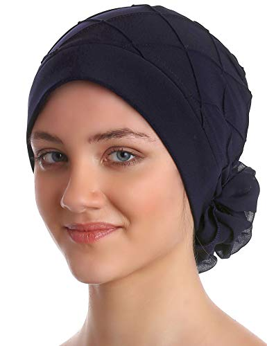 Deresina Headwear Diamant-Muster Mutze für Haarverlust, Krebs, Chemo (Schwarz)