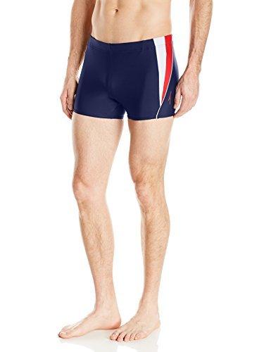 Speedo Men S Powerflex Eco Fitness Splice Square Leg Swimsuit