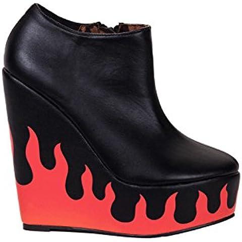 Iron FistFire Sign Wedge - Stivaletti a gamba corta mod. Classics, senza imbottitura donna - 42 Sign