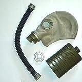 BAER NVA Gasmaske M41 / G5 mit Tasche und Filter sowie Schlauch und Ersatzklarsicht Fenster