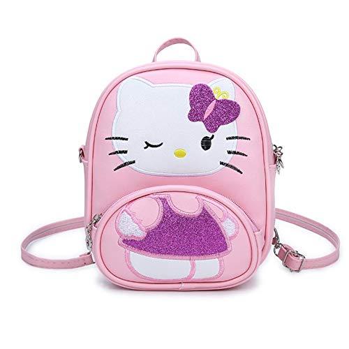 HPADR Kinderrucksack Children Handtasche Für Mädchen Cartoon Cat Pu Leder Mini Sollte Bag Kids Girls Messenger Taschen g -