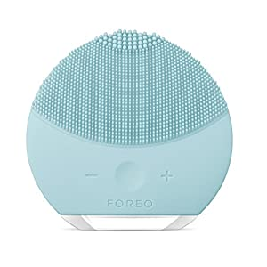FOREO LUNA mini 2 Facial Cleansing Brush and Anti-aging Skin Care device made with Soft Silicone for Every Skin Type Mint, USB Rechargeable