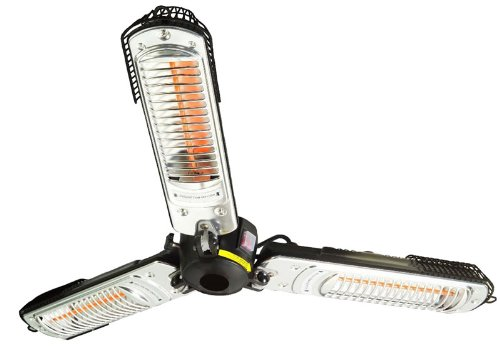 Prem-I-Air 2000W Halogen Quartz Parasol Patio Heater (Folds Down)