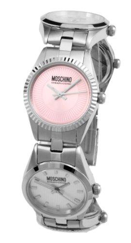 Moschino - MW0032 - Montre Femme - Quartz Analogique - Cadran Argent - Bracelet Métal Argent