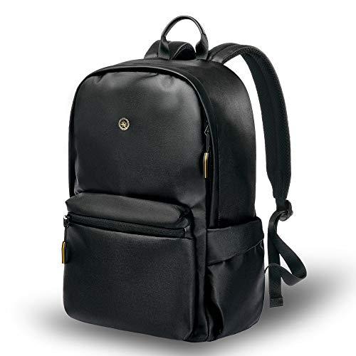 Laptop Rucksack 15,6 Zoll Rucksack Ultraleicht Schule Laptop Tasche Wasserabweisend Casual Multi-Funktionaler Daypack für College/Reise/Business/Frauen/Männer - Schwarz -