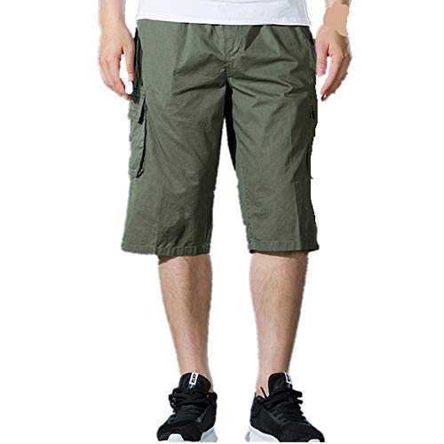 Cargo Shorts Herren Chino Kurze Hose Sommer Bermuda Sport Jogging Training Stretch Fitness Vintage Regular Fit Sweatpants Baumwolle Qmber Latzhose Outdoor Pocket Arbeitshose Cargo Shorts(AG,5XL) (Für Sweatpants Coole Teenager-mädchen)