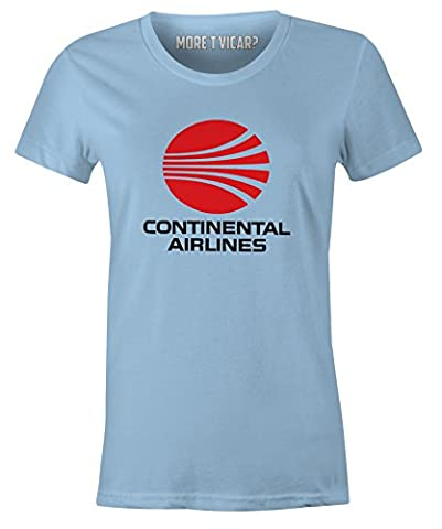 Continental Airlines - Ladies Retro Airliner Logo T Shirt