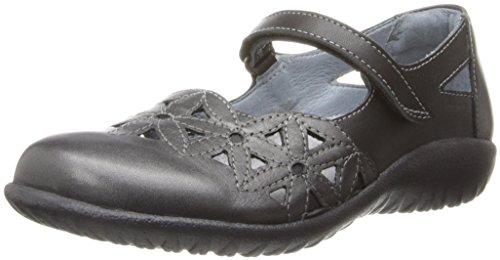 Naot Damen Schuhe Mary Jane Spangenschuhe Toatoa Leder grau/schwarz Kombi 10336, Größe:39