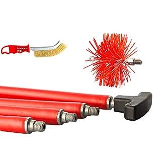 BARETTO – Kit deshollinador 6 metros – Cepillos Nylon 200mm – Cepillos de limpieza de chimenea caldera humo estufa de pellet