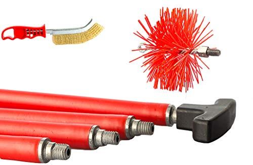 BARETTO - Kit deshollinador 6 metros - Cepillos Nylon 150mm - Cepillos...