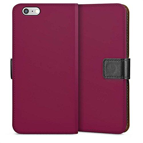 Apple iPhone 5s Housse étui coque protection Aubergines Couleur Lilas Sideflip Sac
