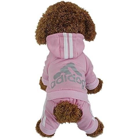 Animales Ropa - Pet Costume Ropa Para Perros Perrito Sudadera Con Capucha Pullover, Rosa Large