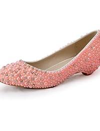 WSS 2016 Zapatos de boda-Tacones-Cuñas-Boda / Vestido / Fiesta y Noche-Rosa-Mujer . under 1in-us11 / eu43 / uk9 / cn44 . under 1in-us11 / eu43 / uk9 / cn44