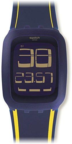Swatch Unisex Bracciale Orologio Digitale al Quarzo Silicone surn106