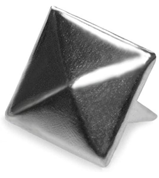 En gros 100 pcs Carré Pyramide Rivet Métal Goujons Leathercraft DIY