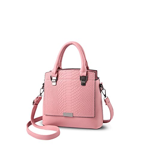 NICOLE&DORIS Damen Handtaschen Einfach Umhängetasche Schultertaschen Henkeltaschen Tasche Crossbody Tote Wasserdicht PU Grün Rosa