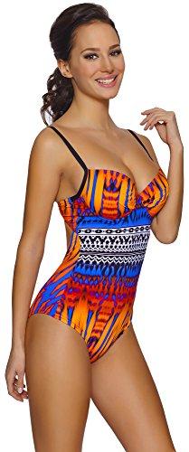 Feba Push Up Costume da Bagno Intero per Donna Scarlet Modello-03D