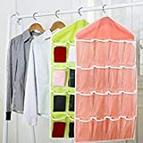 16 Pockets Clear Over Door Hanging Bag Shoe Rack Hanger Storage Organizer #256645