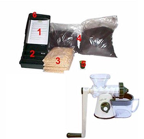 Brow Farm Weizengras Anzucht-Set, mit manuellem Lexen-Entsafter