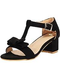Lilley Zapato con Punta Abierta, de Tacón EN Bloque, Negro, Para Mujer Talla 7 UK/40.5 EU - Negro