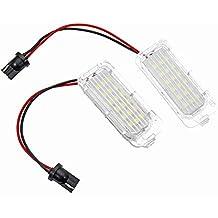 GZCRDZ 1 par de bombillas LED para matrícula, 12 V, 18 SMD, para