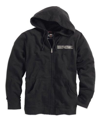 Harley Hoodie (Harley-Davidson Bar & Shield Logo Hoodie 99003-16VM Herren Sweater, Schwarz,)