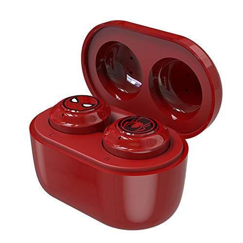 Auricolari Bluetooth Senza Fili, Cuffie con cancellazione del Rumore, Auricolari Sportivi Wireless magnetici, Stereo in-Ear Unisex Rosso, Nero, Whilt,Spiderman