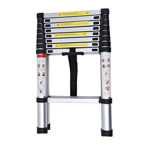 HOME-BUY-Aluminium-Folding-Step-Ladder-Portable-and-Compact-7-Steps-Telescopic-2-m-Foldable-for-Household-and-Outdoor-Purpose-Large-Multicolour