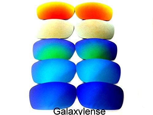 Galaxis Ersatzgläser für Oakley Fives Squared blau & Eis blau & grün & Gold & rot Farbe Polarisierend 5 Paar,GRATIS S & H - blau & Eis blau & grün & Gold & rot