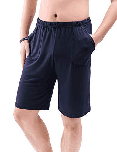 Zhhlinyuan Herren Bermuda Schlafanzughose Schlafanzug Sleep Hose Pants Pyjama Shorts Jerseyhose Pyjamahose -