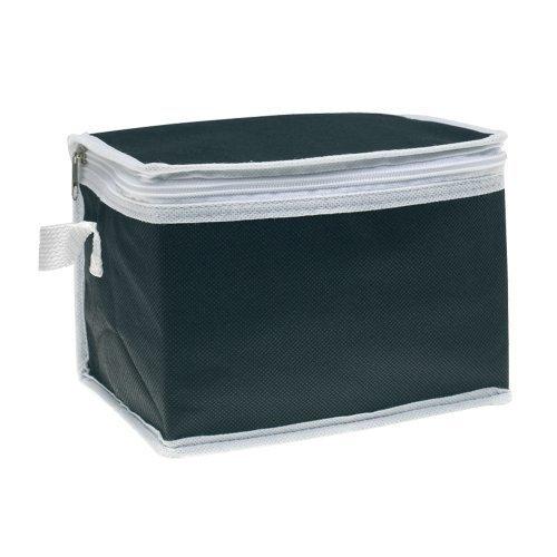 eBuy GB Kühltasche, farbig mit weißem Rand  - Schwarz - Schwarz - Small -
